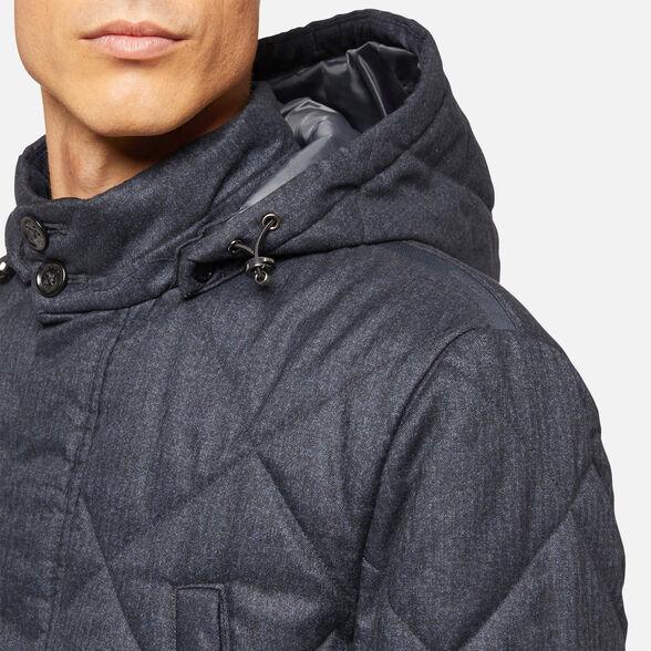 super popular 64179 f5bb5 Geox RENAN Man: Blue mix Jacket | Geox ® Official Store