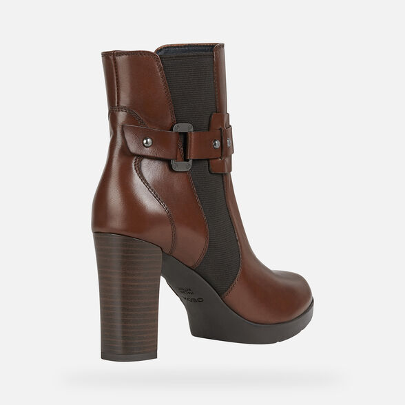 WOMAN ANKLE BOOTS GEOX ANYLLA HIGH WOMAN - 5