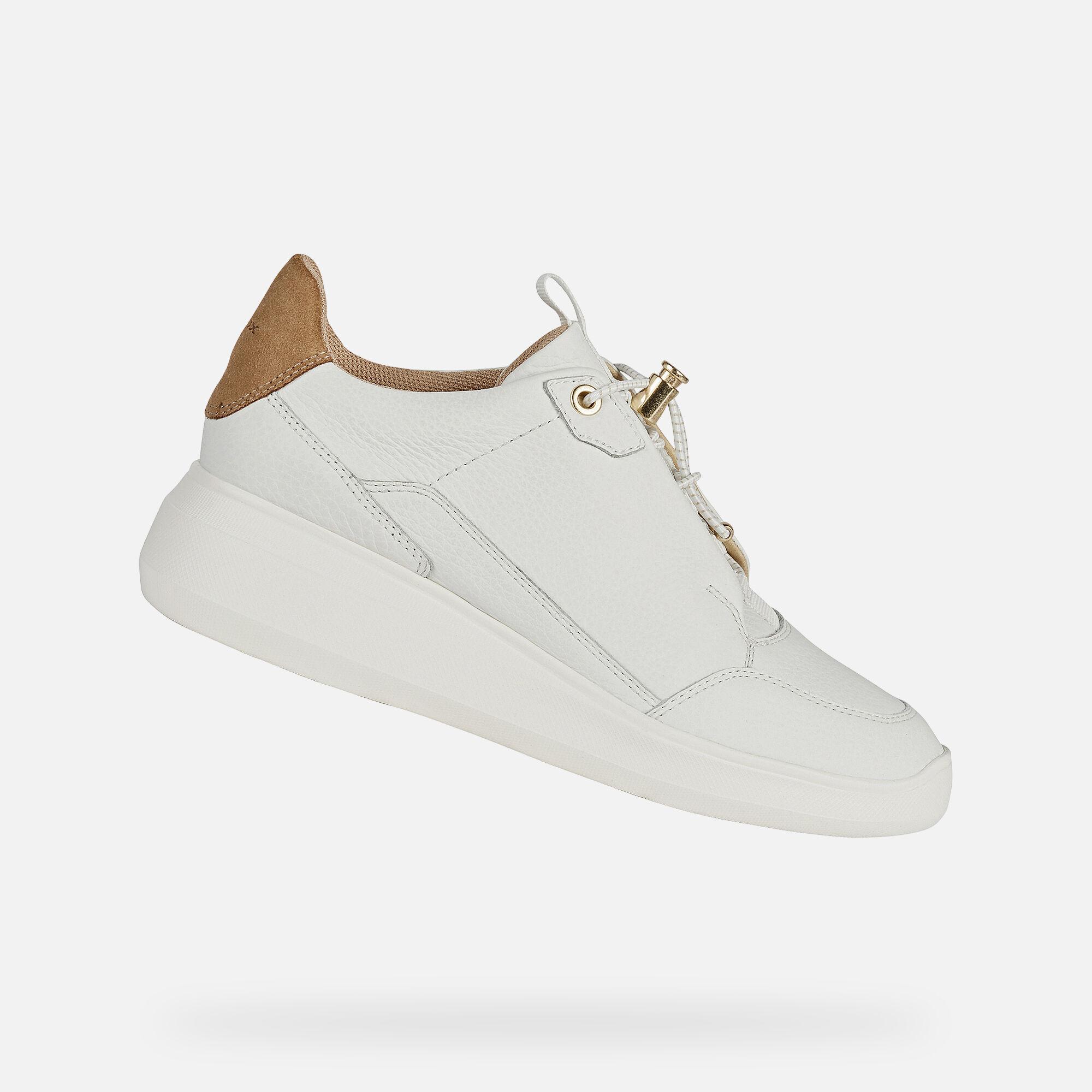 Geox RUBIDIA Woman: White Sneakers