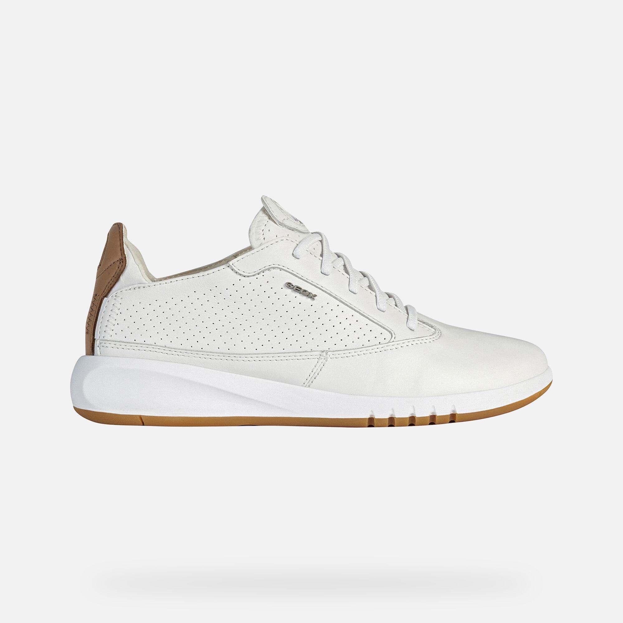 Geox AERANTIS Woman: White Sneakers