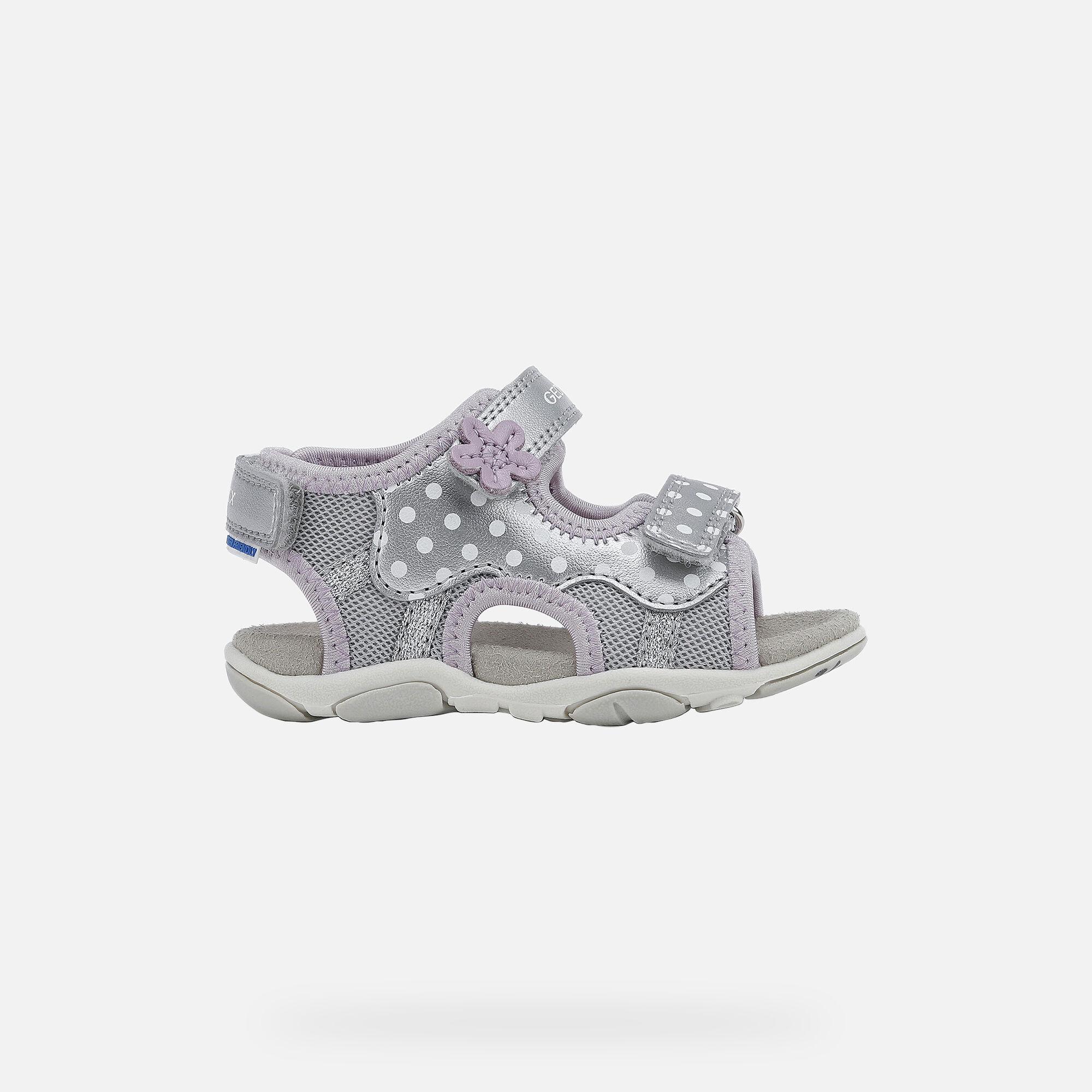 Geox AGASIM Baby Girl: Silver Sandals