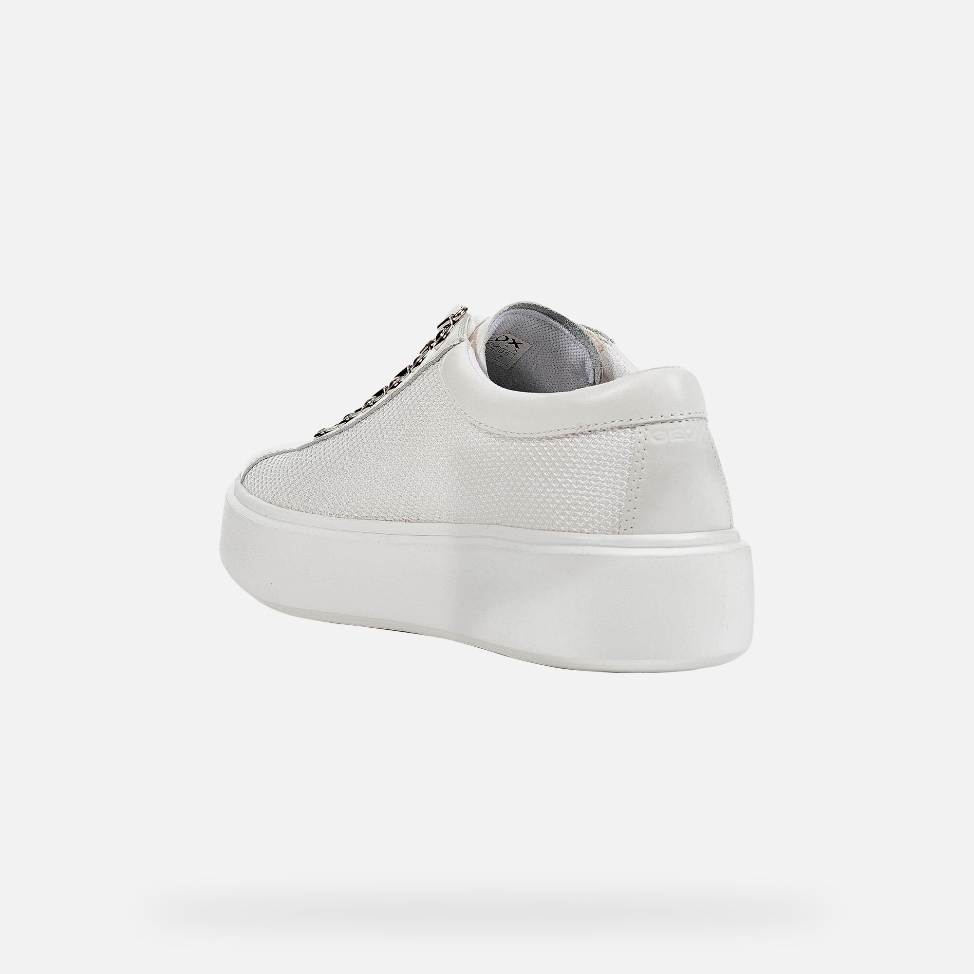 Geox D NHENBUS: White Woman Sneakers   Geox SS19