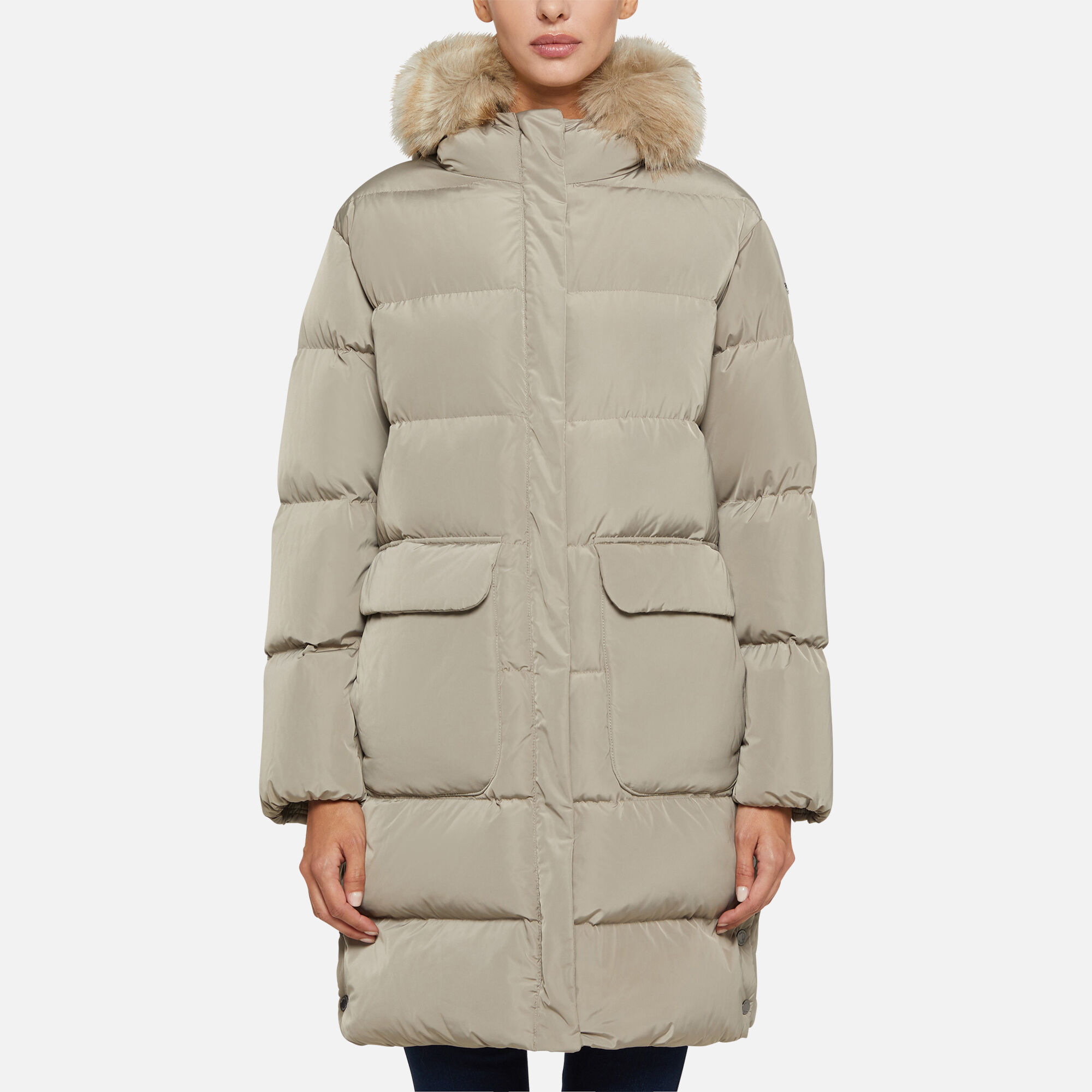 Geox premium down feather coat women