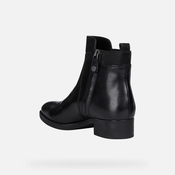 aislamiento Subvención hacer los deberes  Geox FELICITY Woman: Black Ankle Boots | Geox Fall Winter