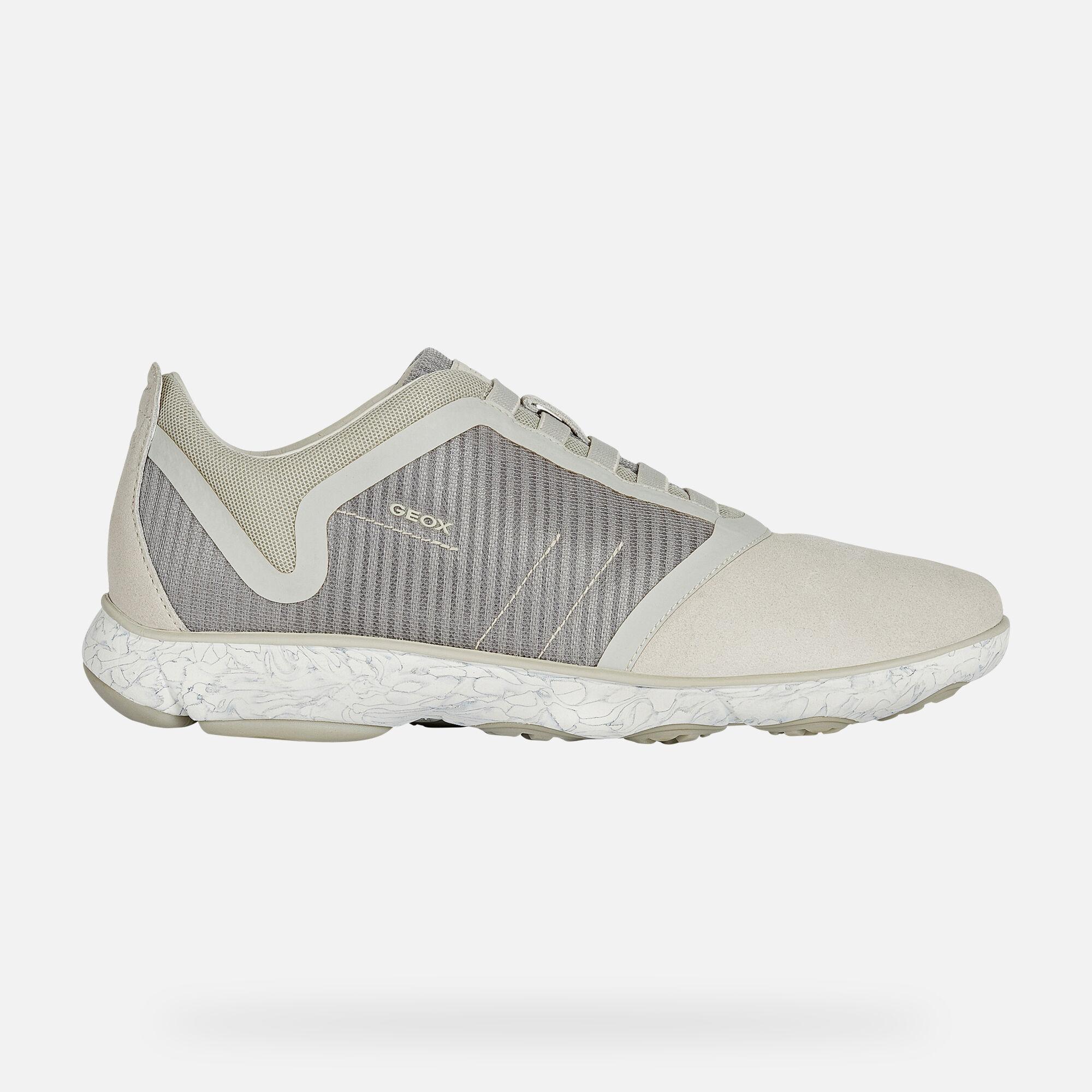Geox U NEBULA: Grey Man Sneakers | Geox
