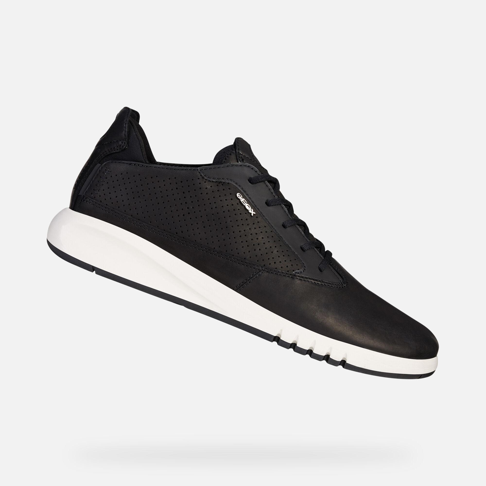 Geox U Aerantis A Zapatos Informales Piel Hombres Zapatillas