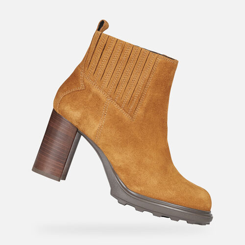 ANKLE BOOTS WOMAN GEOX SALICE HIGH WOMAN - null