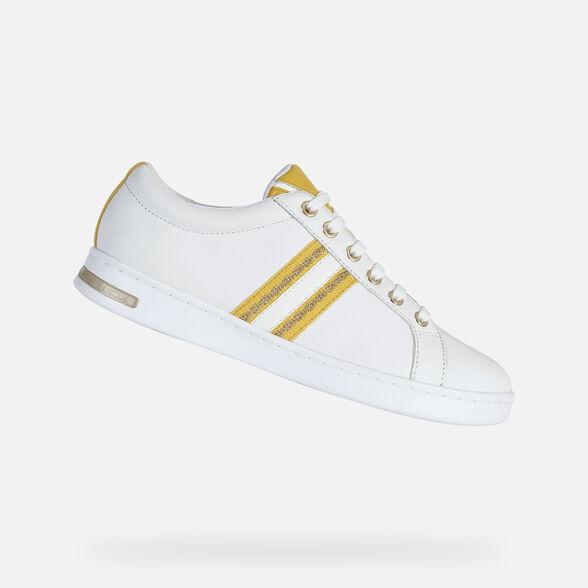máquina Faceta superávit  Geox JAYSEN Woman: White Sneakers | Geox Spring/Summer