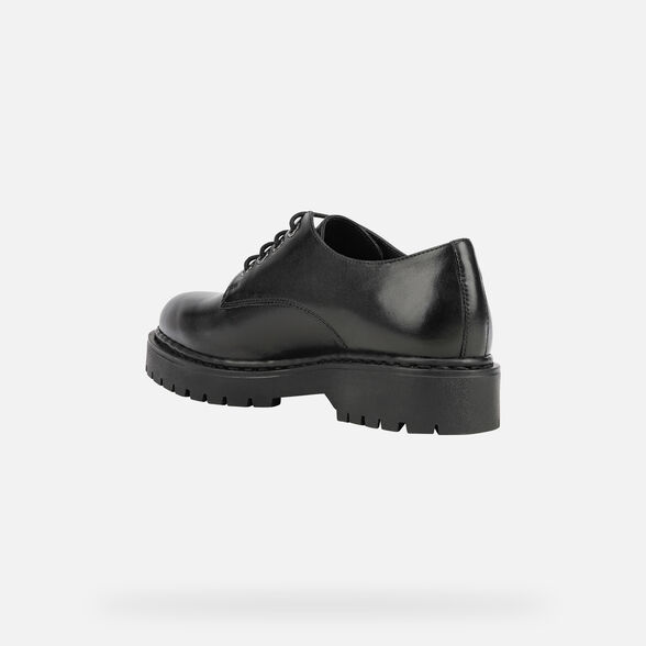 LACE UPS AND BROGUES WOMAN GEOX BLEYZE WOMAN - BLACK