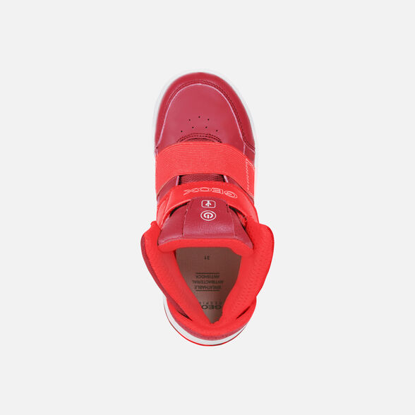 reputable site 67a37 ce233 Geox XLED Junior Boy: Red Sneakers   Geox ® Official Store