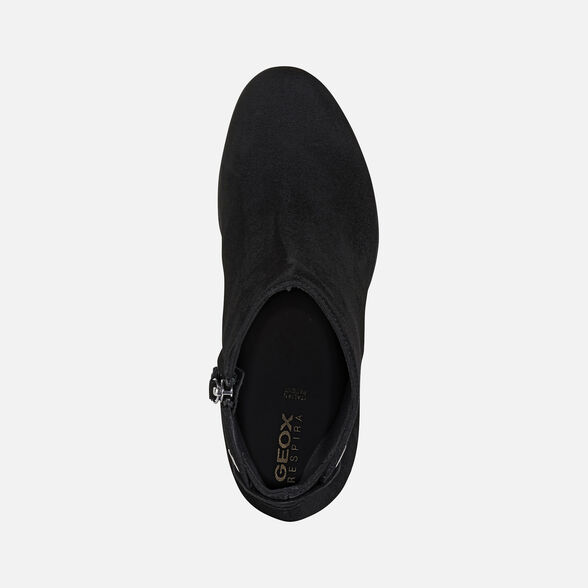 Típico Hobart Dinkarville  Geox ANYLLA HIGH Woman: Black Ankle Boots | Geox® Online Store