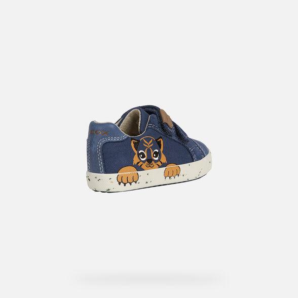 Geox Unisex-Child Kilwi Boy 22 High Top Velcro Sneaker