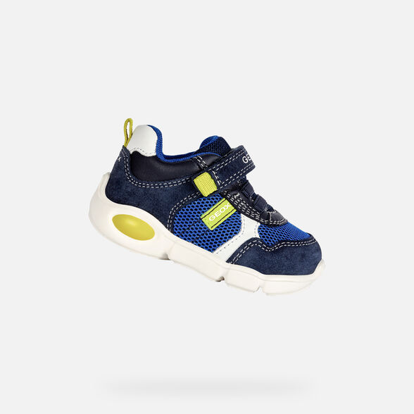 SNEAKERS BABY GEOX PILLOW BABY BOY - NAVY AND LIME