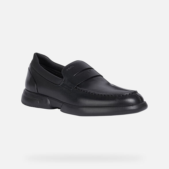 LOAFERS MAN GEOX SMOOTHER MAN - BLACK