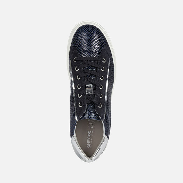 SNEAKERS WOMAN GEOX PONTOISE WOMAN - BLUE AND SILVER