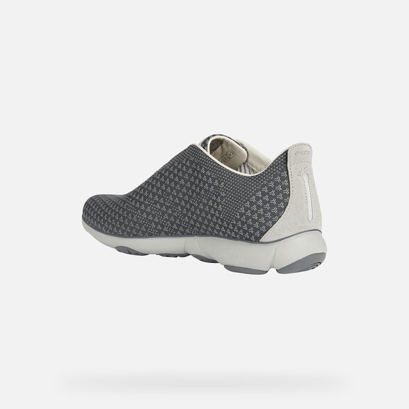 SNEAKERS MAN GEOX NEBULA MAN - ANTHRACITE AND LIGHT GREY