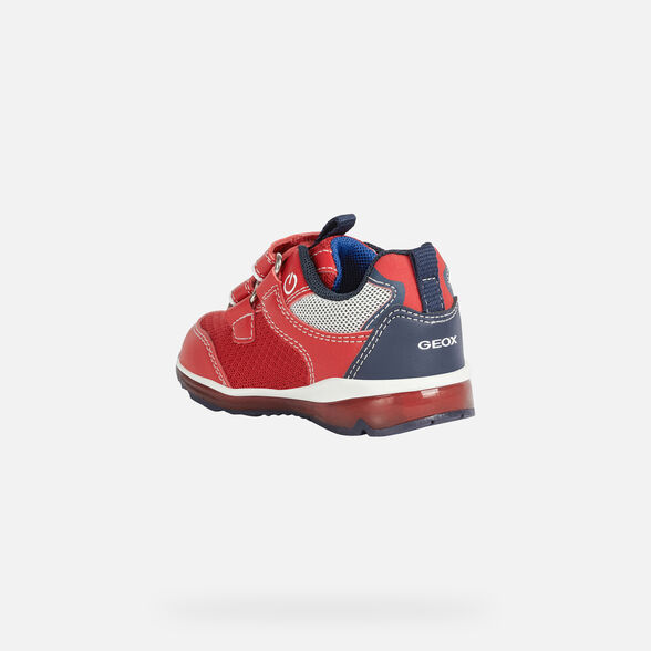 LIGHT-UP SHOES BABY GEOX TODO BABY BOY  - RED AND NAVY