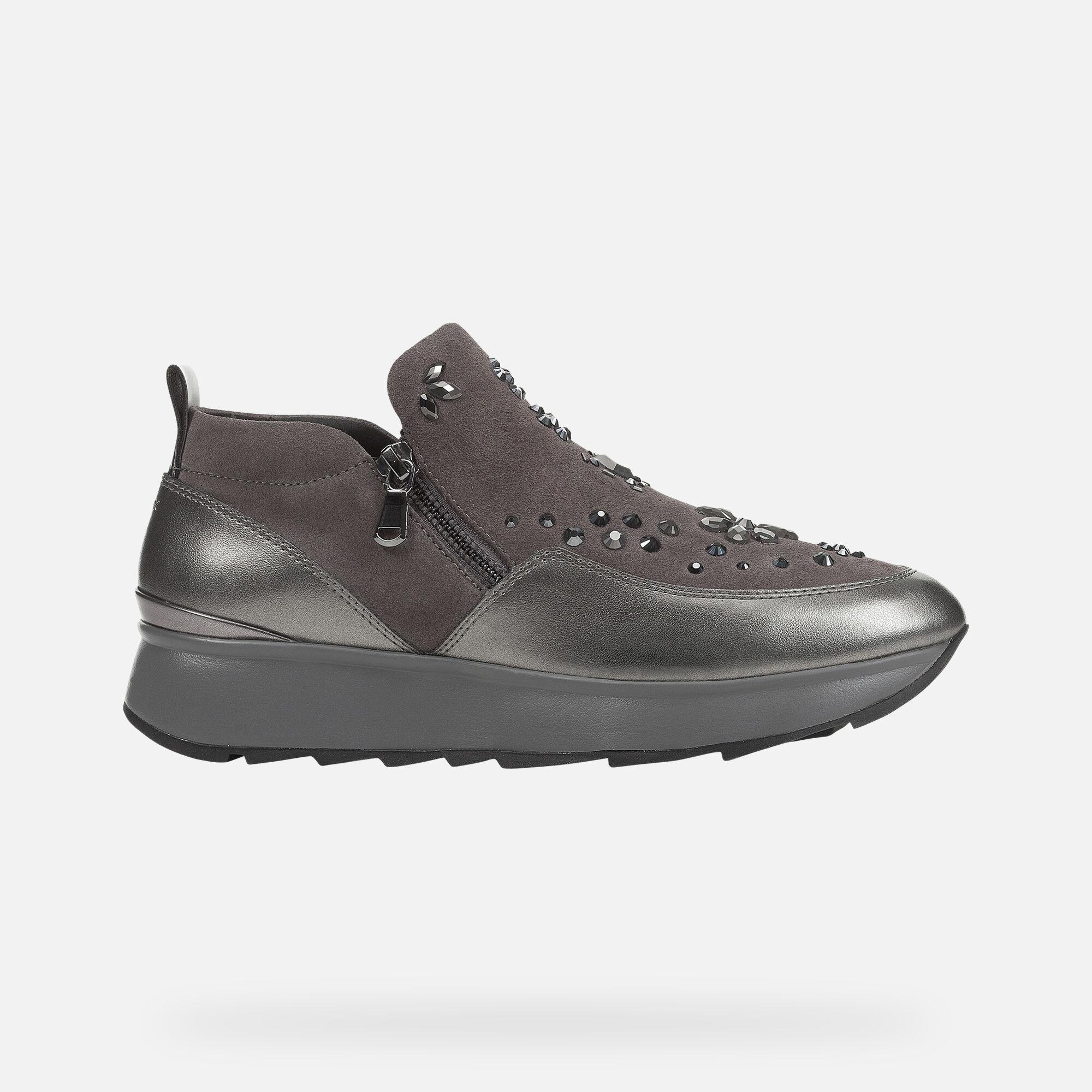 Geox GENDRY Woman: Grey Sneakers   Geox