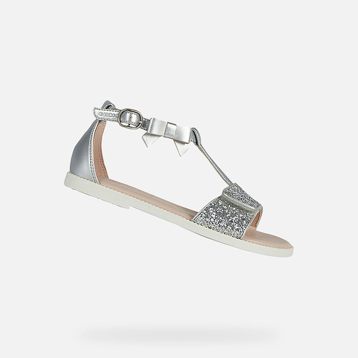 geox Girl Trainers CREAMY B BEIGE,geox shoes usa,Clearance