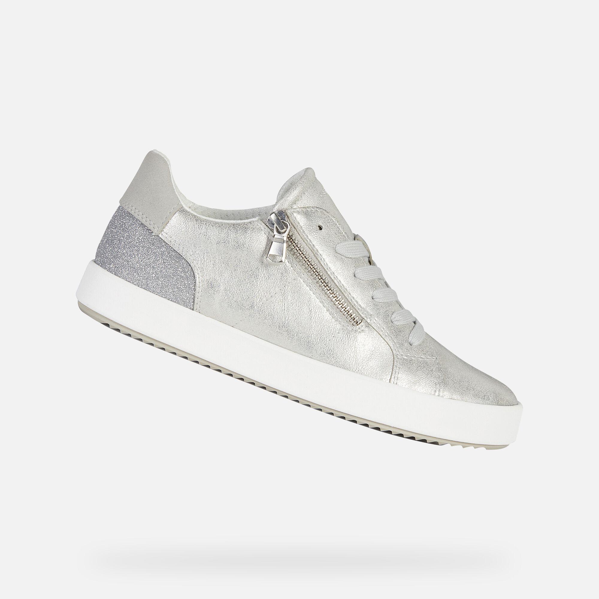 Geox BLOMIEE Woman: Silver Sneakers