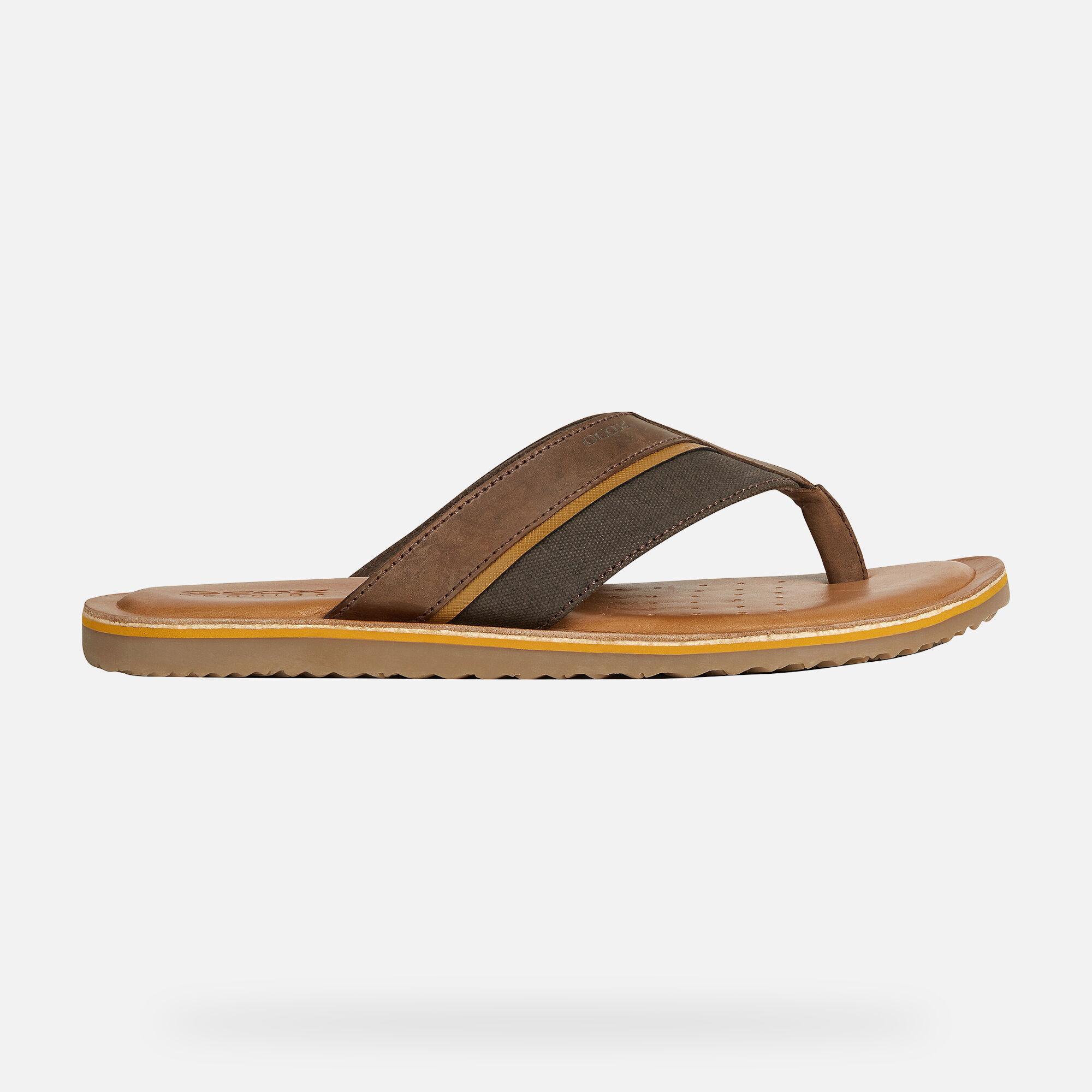 Geox ARTIE Man: Coffee Sandals | Geox