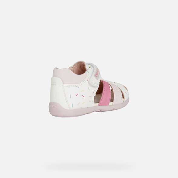 FIRST STEPS BABY GEOX ELTHAN BABY GIRL - WHITE AND PINK