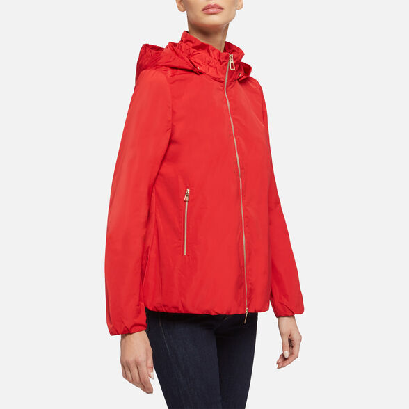 JACKETS WOMAN GEOX NAIOMY WOMAN - TRUE RED
