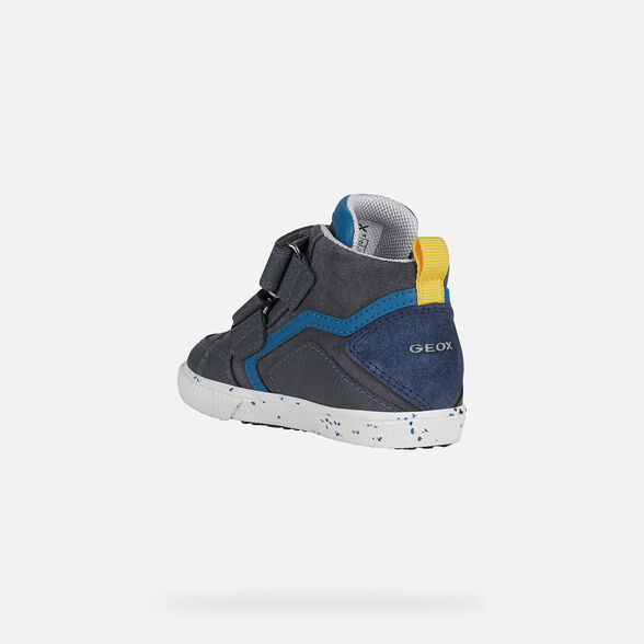 SNEAKERS BABY GEOX KILWI BABY BOY - GREY AND NAVY