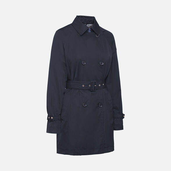 OVERCOAT WOMAN GEOX AIRELL WOMAN - GOTHIC BLUE