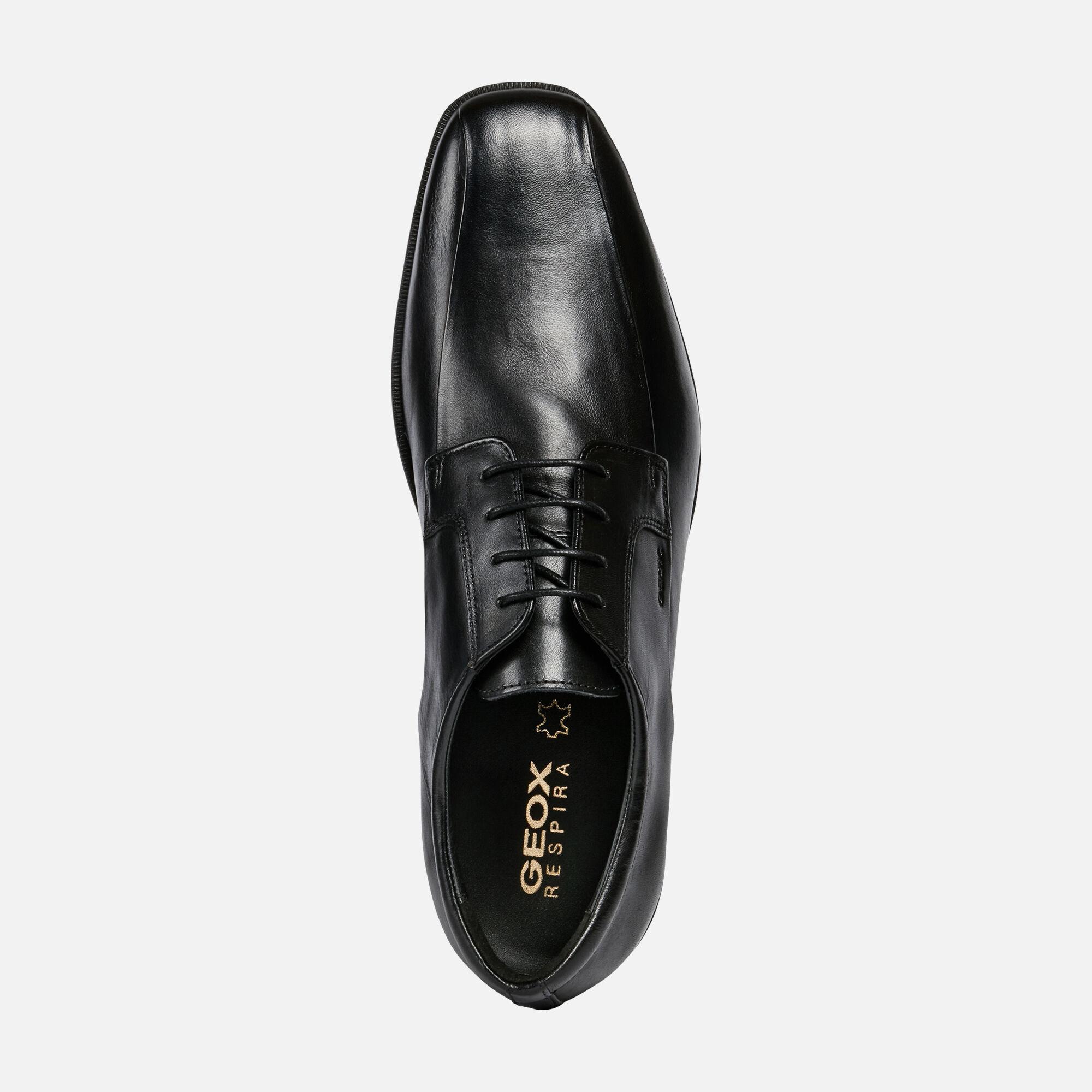 Geox CALGARY Man: Black Shoes   Geox