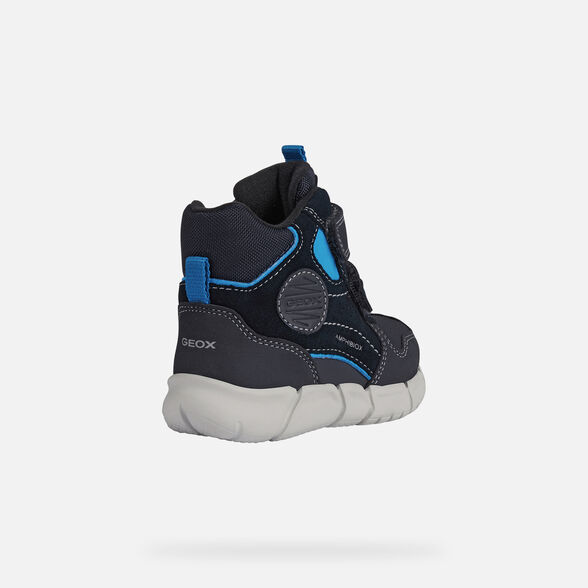 MID-CALF BOOTS BABY GEOX FLEXYPER ABX BABY BOY - NAVY AND SKY