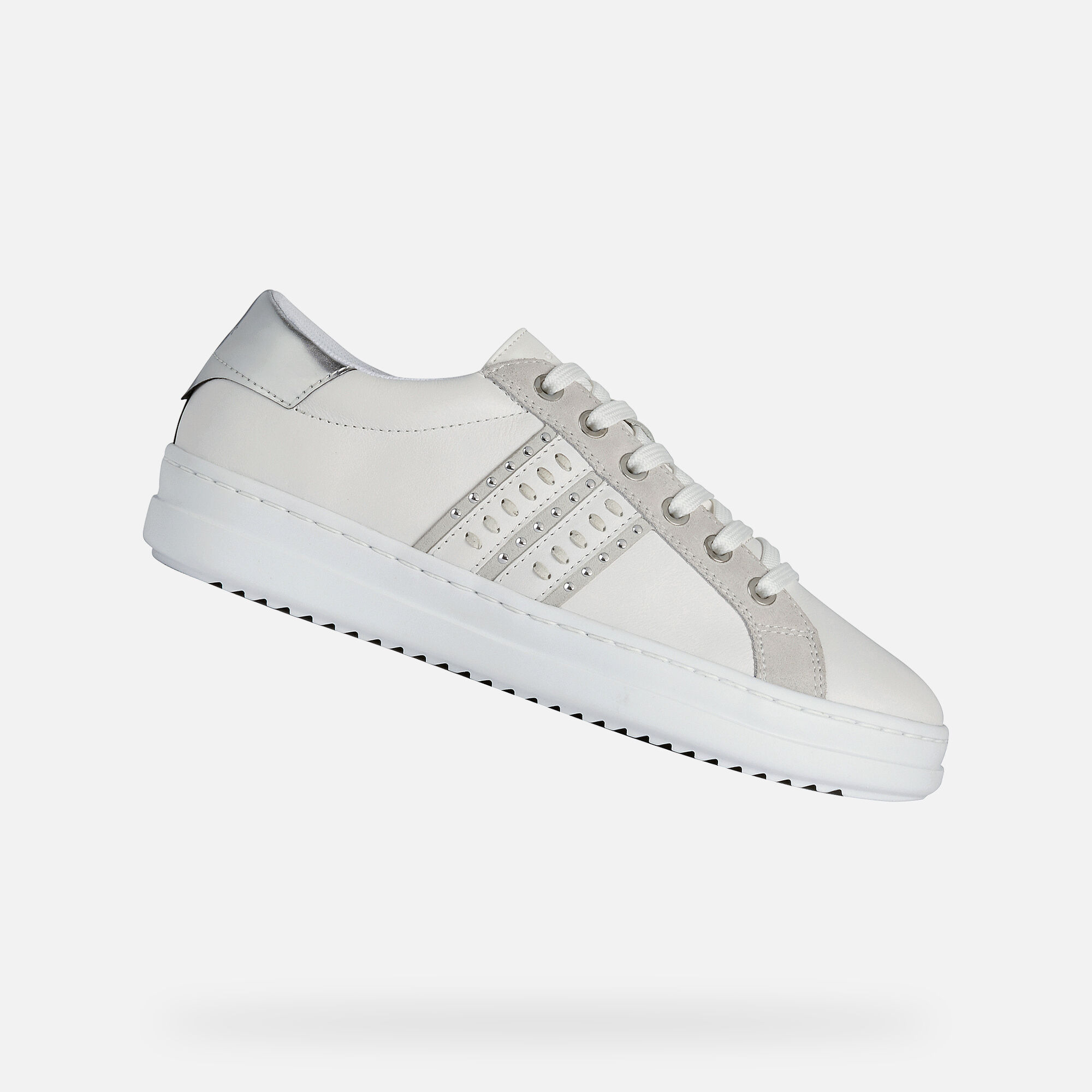 Geox PONTOISE Woman: White Sneakers
