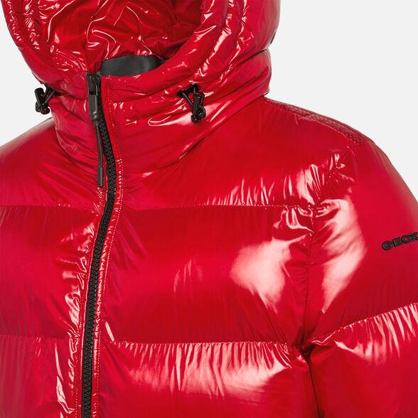 Plantando árboles exterior Nublado  Geox SILE Man: Red Jacket | Geox® Fall Winter