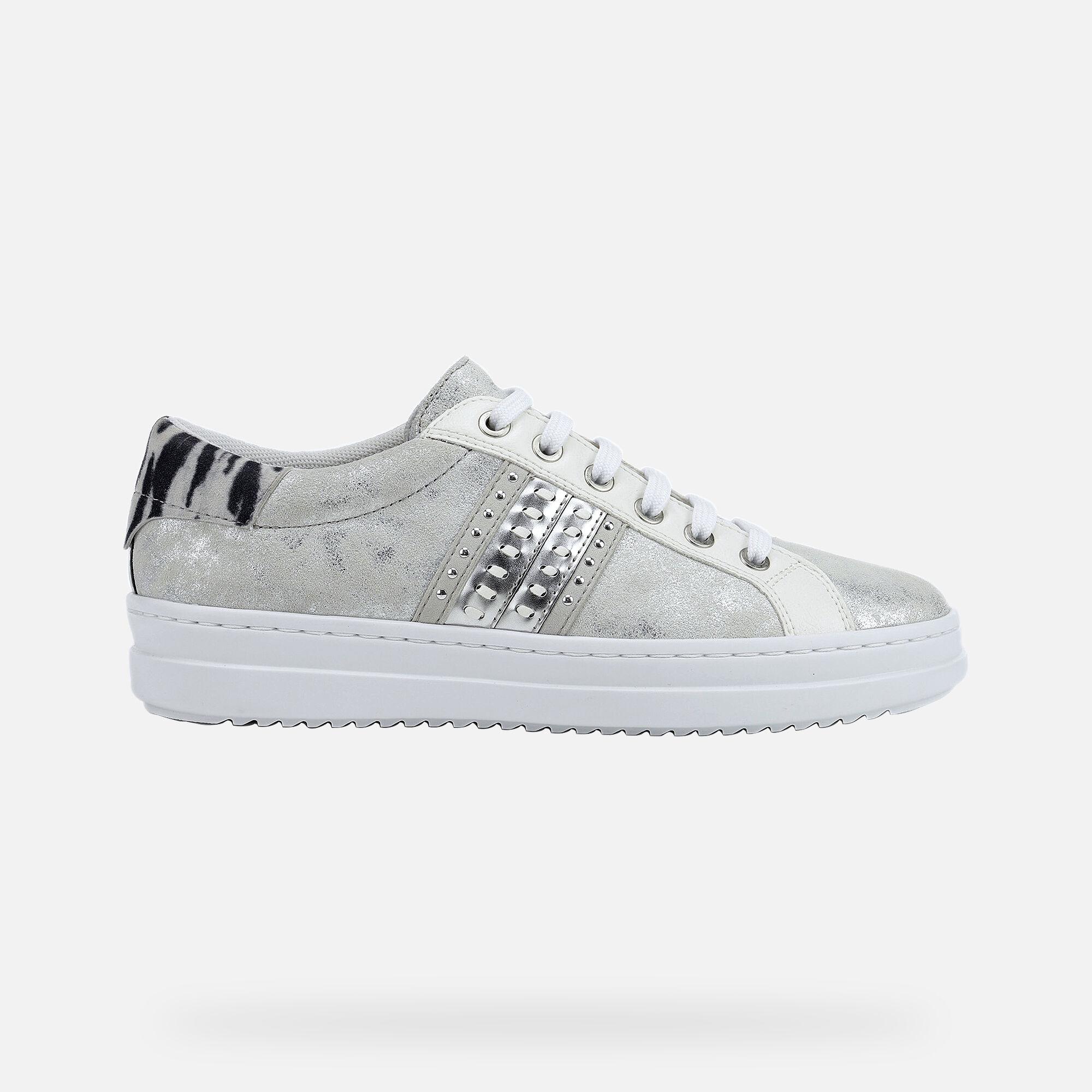 Geox PONTOISE Woman: Silver Sneakers