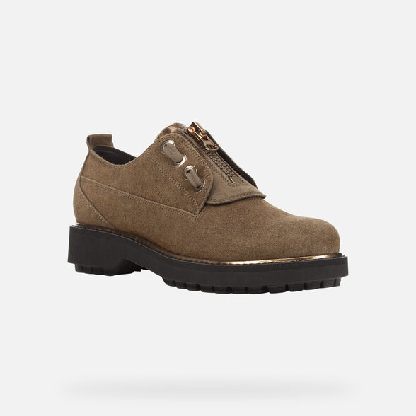 LACE UPS AND BROGUES WOMAN GEOX ASHEELY PLUS WOMAN - 3