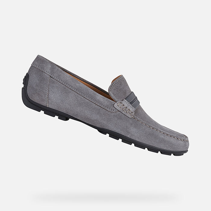 Geox SNAKE Grey White Men's Trainers 2018 New Style Online