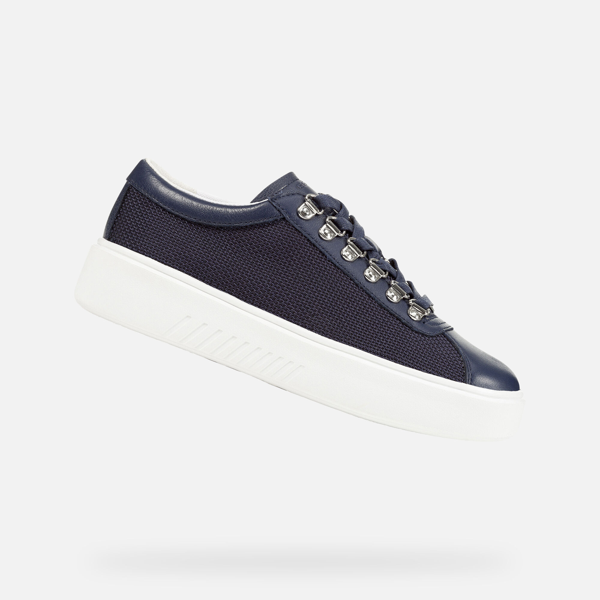 Geox D NHENBUS: Blue Woman Sneakers   Geox SS19