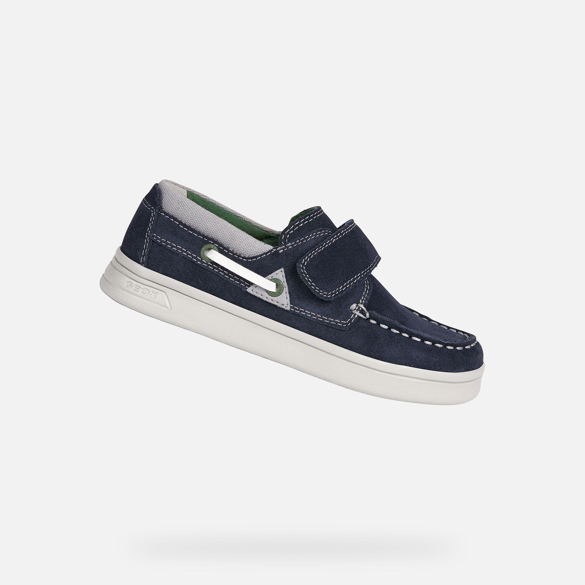 Geox DJROCK Boy: Navy Loafers   Geox