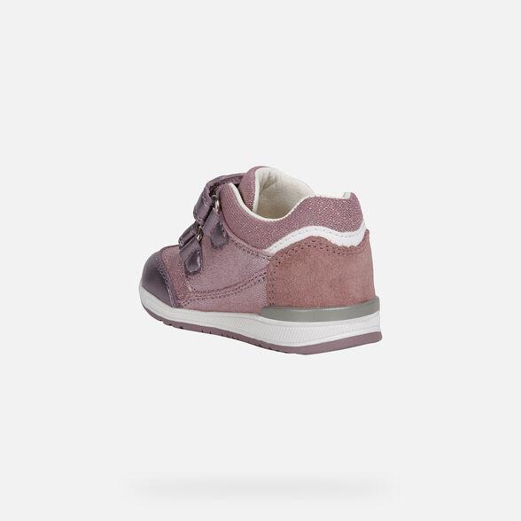 Atajos volumen George Stevenson  Geox RISHON GIRL Baby Girl: Pink First Steps   Geox® Online Store