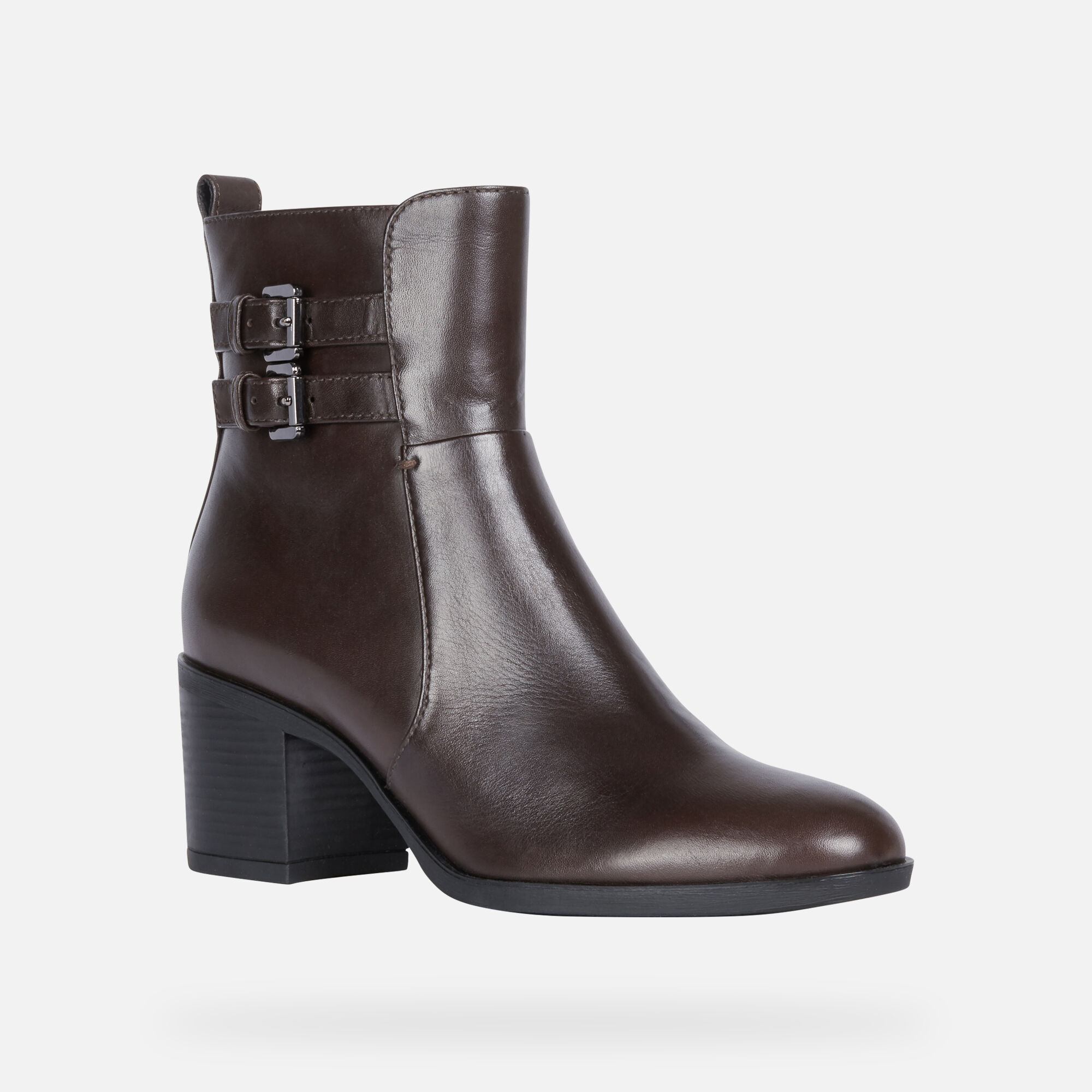 Geox Women's D GLYNNA Brown Ankle Boots | Geox¨ FW 1920