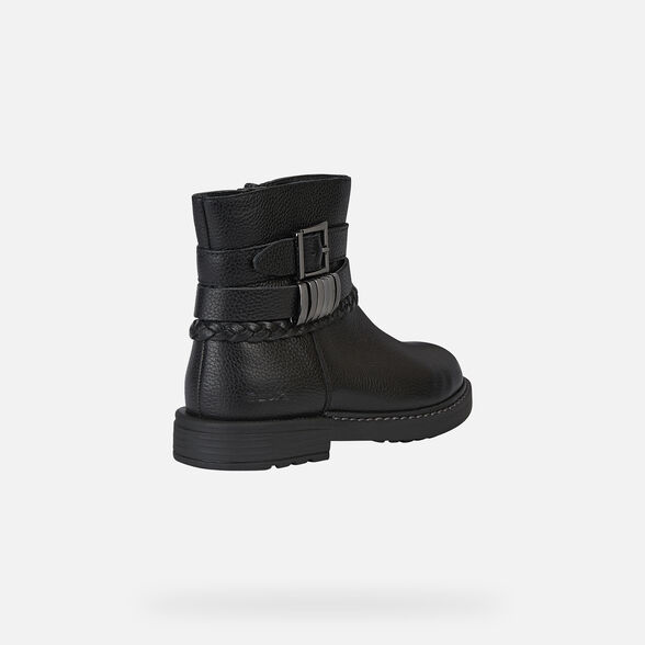 ANKLE BOOTS GIRL GEOX ECLAIR GIRL - BLACK