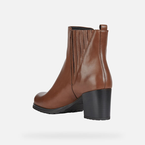 hardware Delegación simplemente  Geox NEW LISE NP ABX Woman: Chestnut Ankle Boots | Geox® FW20/21