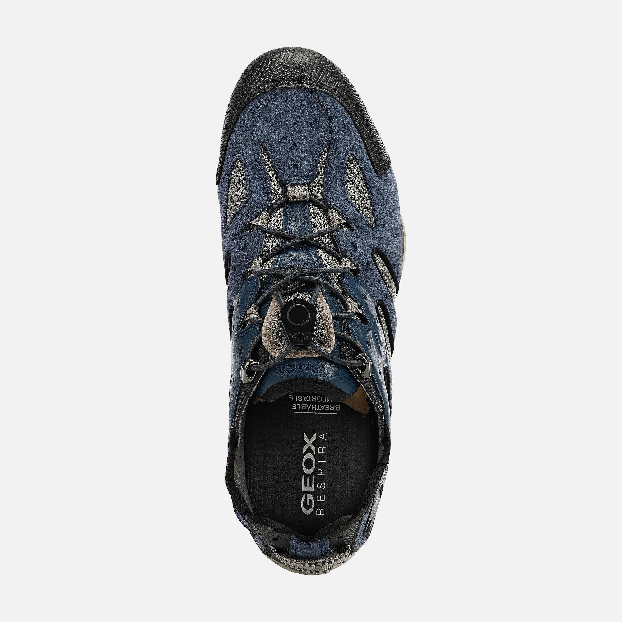 Geox SNAKE Man: Blue Sneakers | Geox