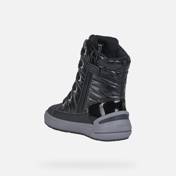 ANKLE BOOTS GIRL GEOX SLEIGH ABX GIRL - BLACK
