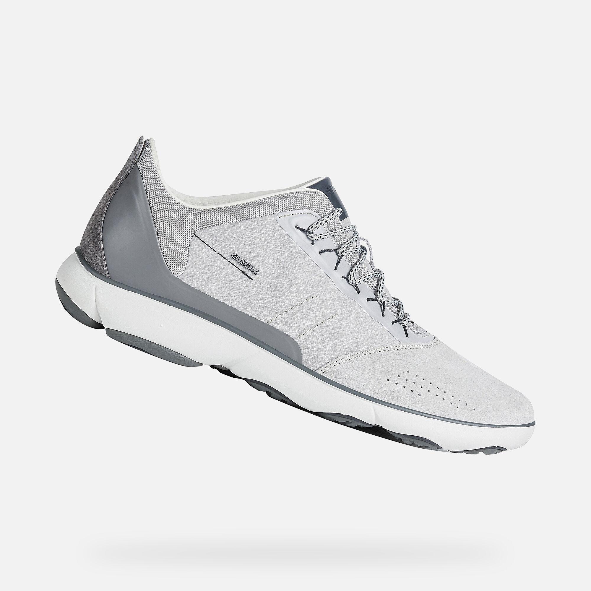 Geox NEBULA Man: Lt Grey Sneakers