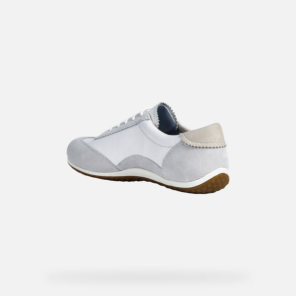 SNEAKERS WOMAN GEOX VEGA WOMAN - OFF WHITE AND WHITE