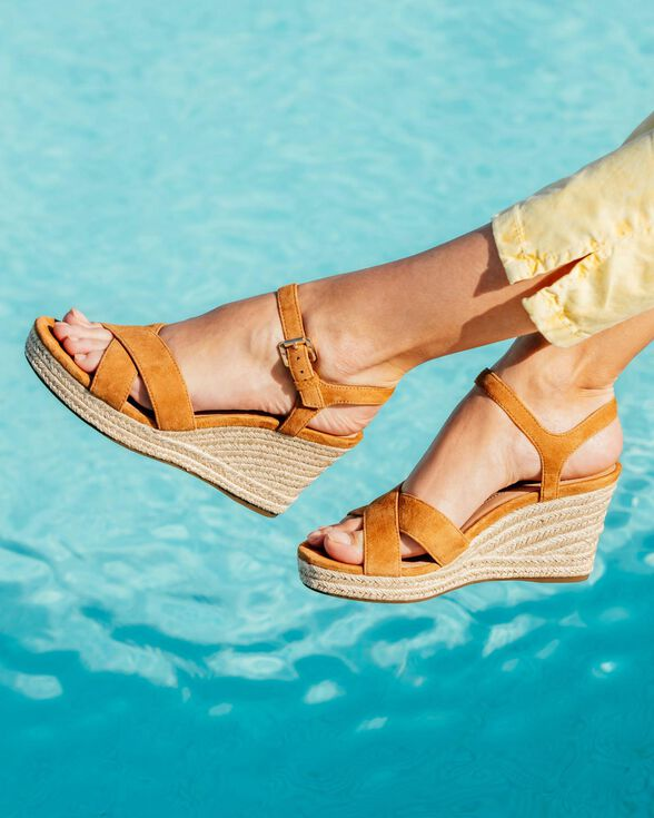 SANDALS WOMAN GEOX SOLEIL WOMAN - CURRY