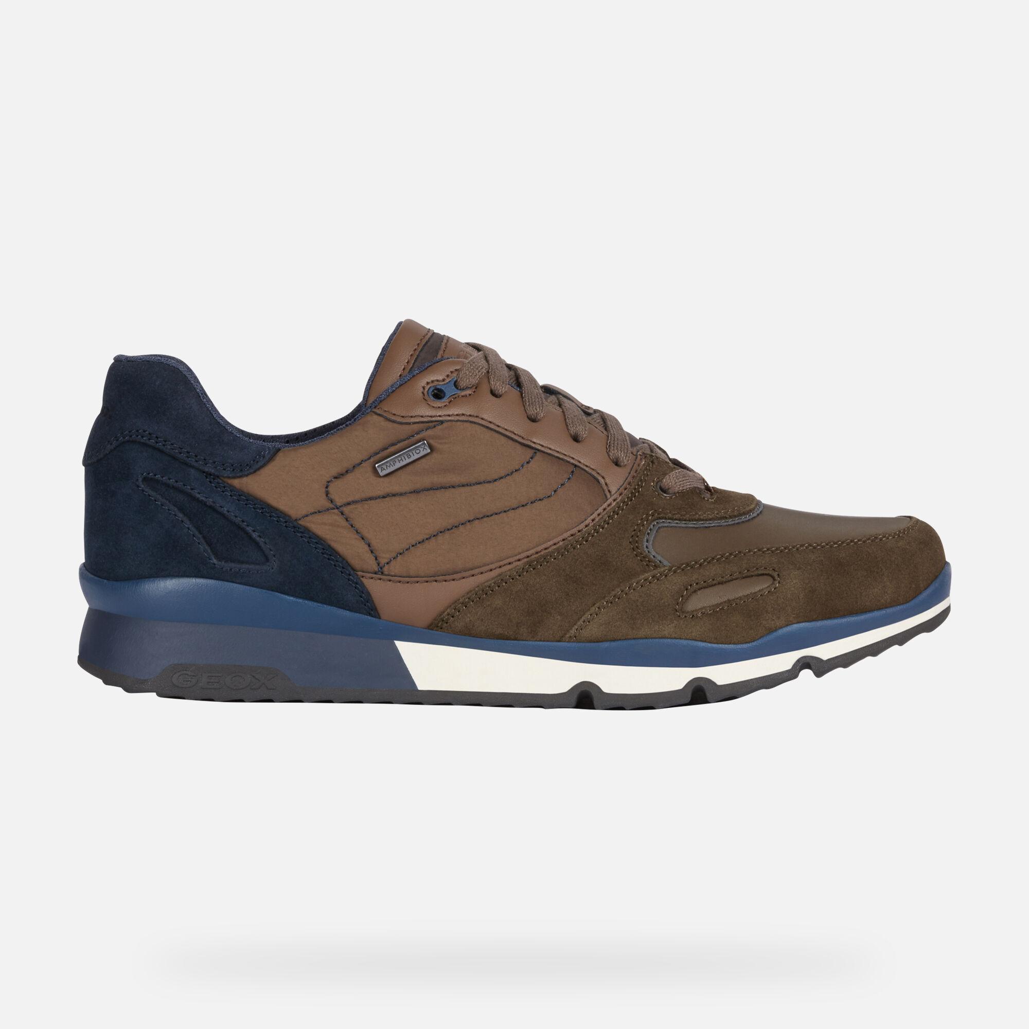 Geox SANDFORD B ABX Uomo: Sneakers Basse Oliva scuro | Geox ®