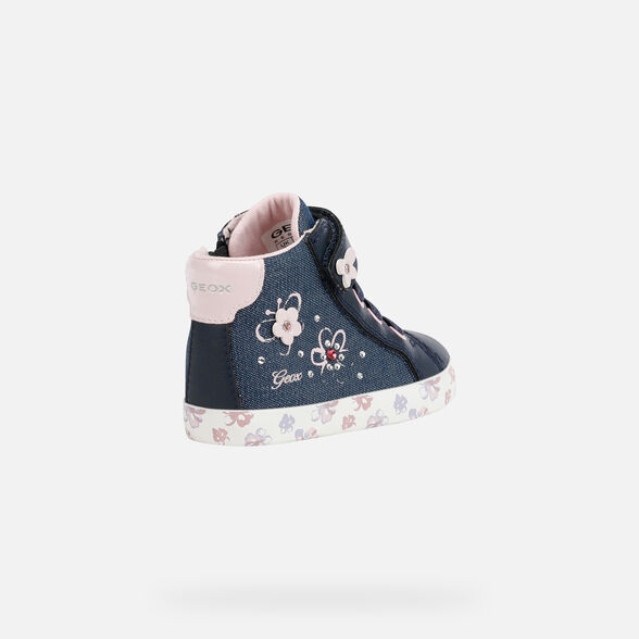 SNEAKERS BABY GEOX KILWI BABY GIRL - AVIO AND PINK