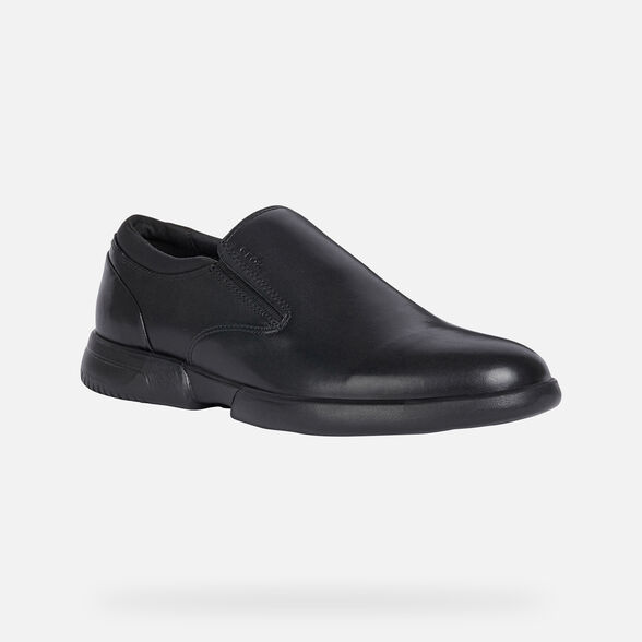CASUAL SHOES MAN GEOX SMOOTHER MAN - BLACK
